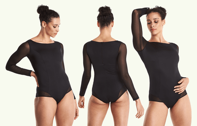 Long Sleeve Swimsuit Black - Hepburn