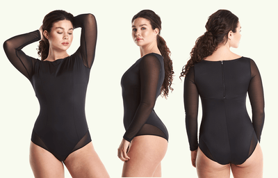 Long Sleeve Swimsuit Black - Monroe