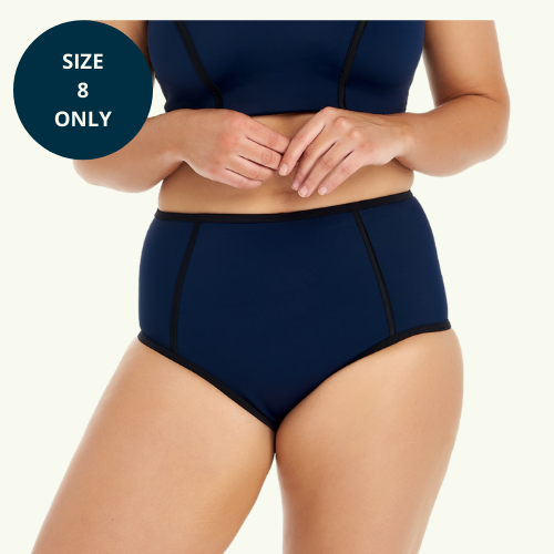 High Waisted Bikini Bottoms - Mint Blue