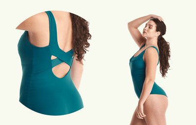 X-Back Swimsuit Teal - Monroe