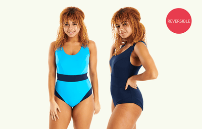 Classic Reversible Swimsuit Lido & Navy - Monroe