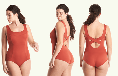X-Back Swimsuit Moroccan Red - Monroe