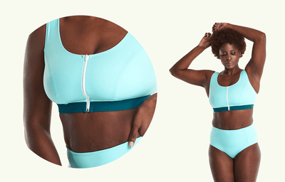 Swimcrop High Waister Set Mint Blue & Teal - Hendricks