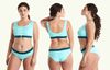 Swimcrop Bikini Set Mint Blue & Teal - Monroe