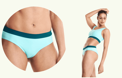 Regular Bikini Bottoms - Mint Blue & Teal