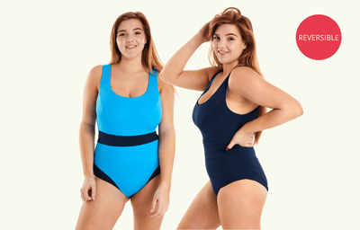 Classic Reversible Swimsuit Lido & Navy - Hendricks