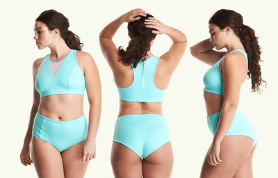 Swimbra High Waister Set Mint Blue - Monroe