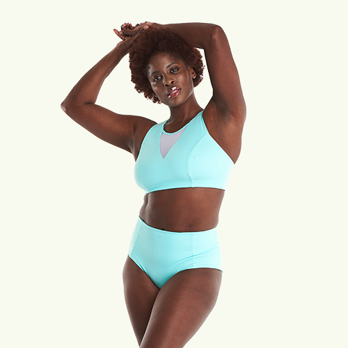 Swimbra High Waister Set Mint Blue - Hendricks