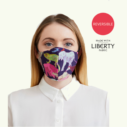 Reusable & Reversible Face Mask - Zoo Print