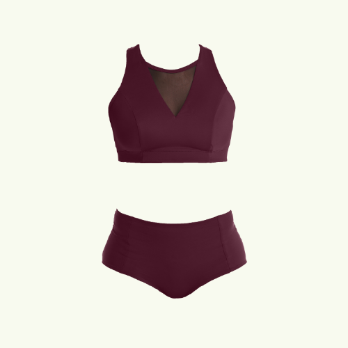 Swimbra High Waister Set Plum - Monroe