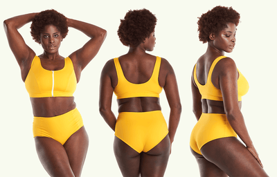 Swimcrop High Waister Set Mango - Hendricks