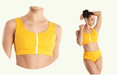 Swimcrop High Waister Set Mango - Hepburn