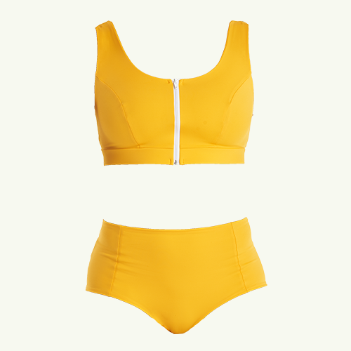 Swimcrop High Waister Set Mango - Monroe
