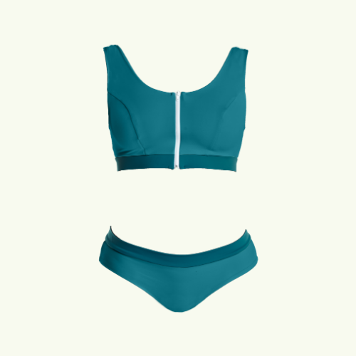 Swimcrop Bikini Set Teal - Hendricks