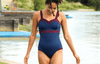 Sweetheart Swimsuit Navy & Plum - Hepburn