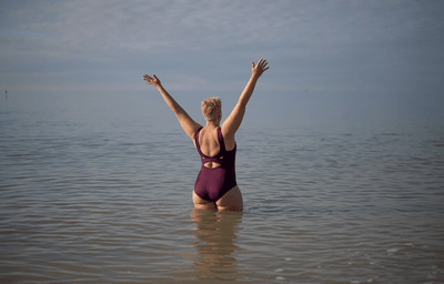 X-Back Swimsuit Plum - Monroe