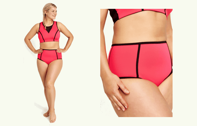 High Rise Bikini Bottoms - Coral (old season)
