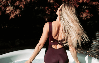 X-Back Swimsuit Plum - Hepburn
