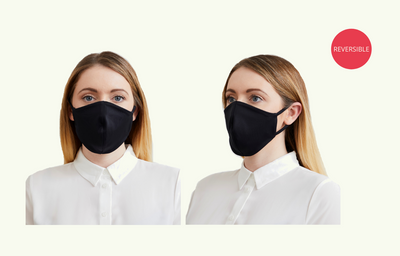 Reusable & Reversible Face Mask - Navy & Black