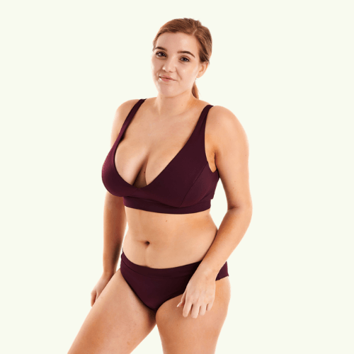 Plunge Bikini Set Plum - Hendricks