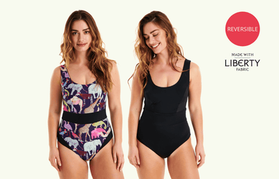 Classic Reversible Swimsuit Zoo & Black - Hepburn