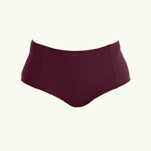 High Waisted Bikini Bottoms - Plum
