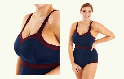 Sweetheart Swimsuit Navy & Plum - Hendricks