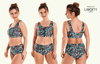 Swimcrop High Waister Bikini Beach Meadow - Hepburn