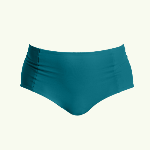High Waisted Bikini Bottoms - Teal