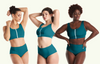 Swimcrop High Waister Set Teal - Monroe