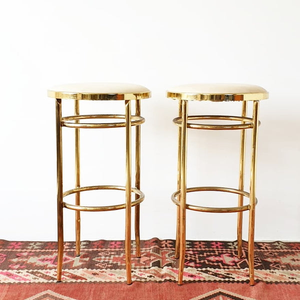 Pair of vintage high stools