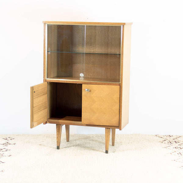 Vintage 50s Vitrine Library or Display Cabinet