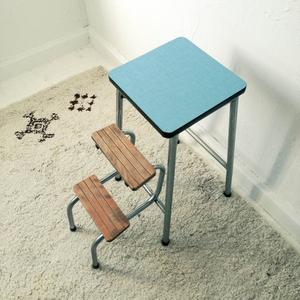 Oddhaus Vintage Furniture Luxembourg 50s Industrial Step Stool