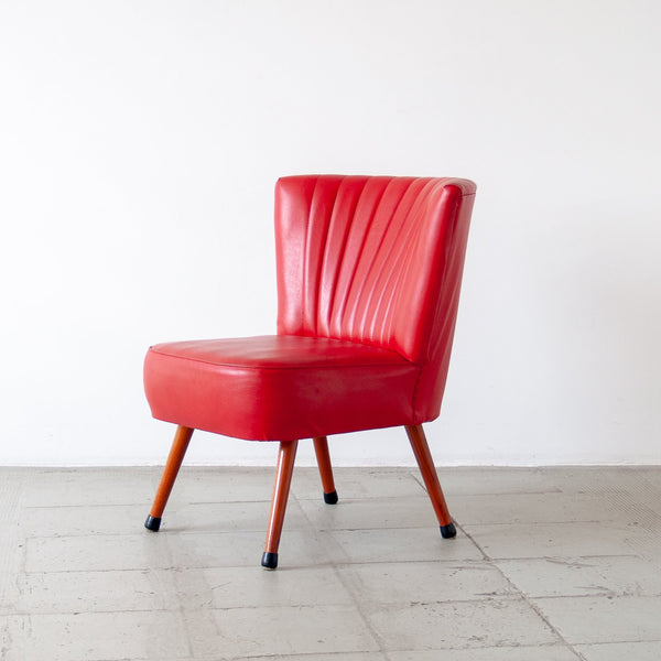 Red Vinyl Cocktail Chair