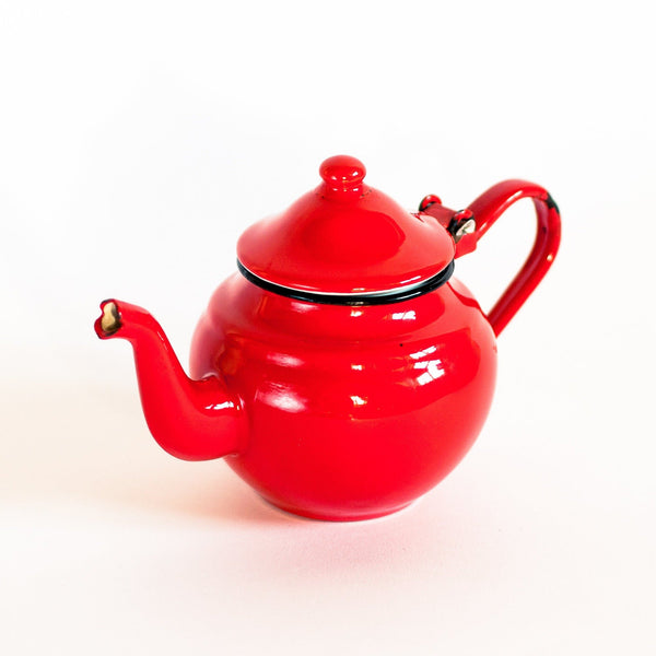 French Enamel Japy Teapot