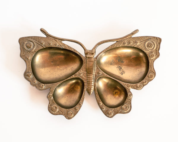 § Brass Butterfly Trinket Dish