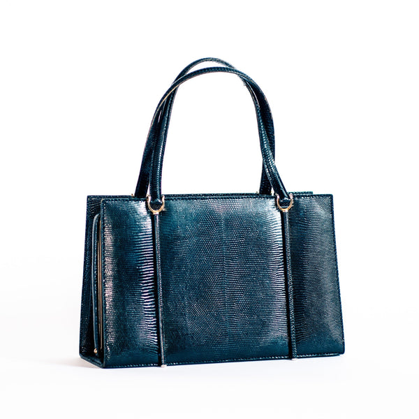 Vintage Lizard Skin Leather Handbag