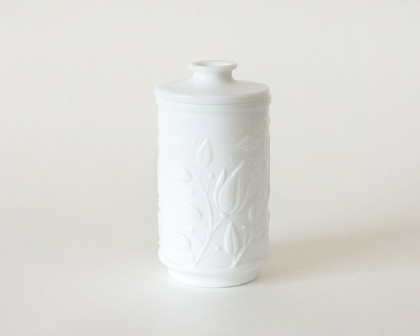 Vintage Opaline Glass Apothecary Jar