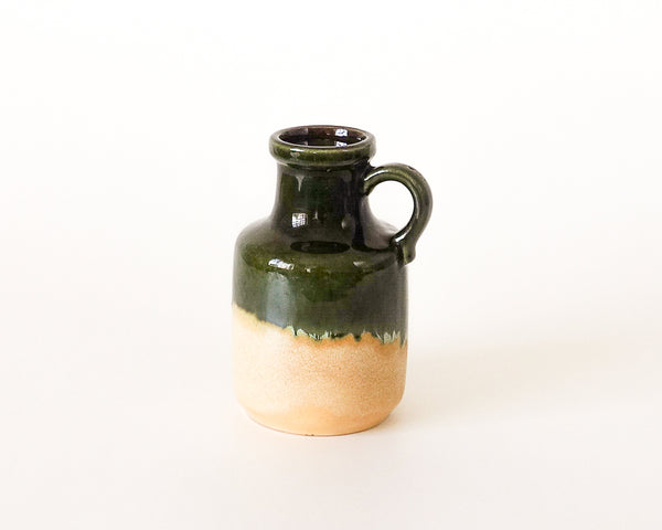 §Scheurich Fat Lava Vase West Germany 413-20 414-16 Green and Yellow