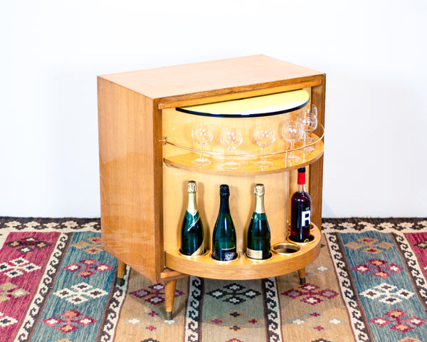 § Vintage Secret Compartment Bar Cabinet