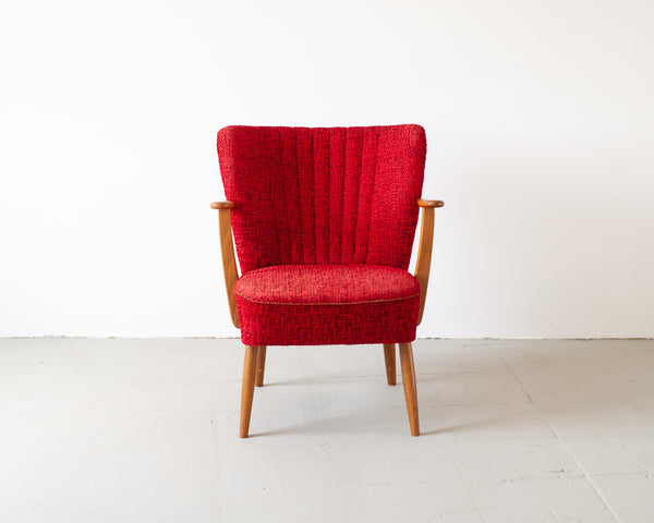 § Vintage 1950's Red Cocktail Armchair