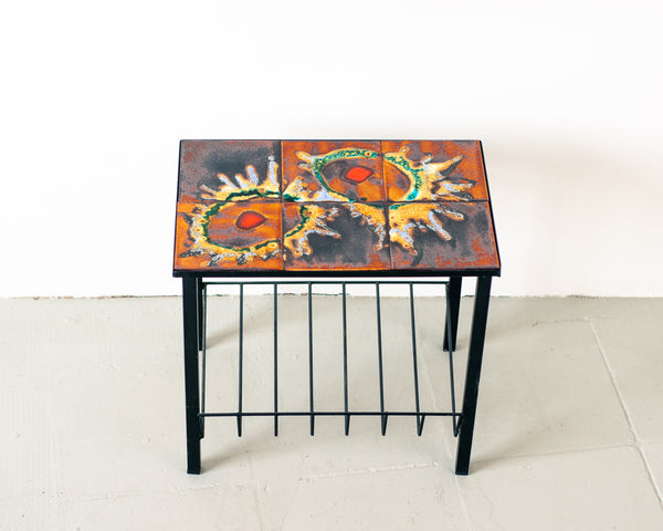 § Retro 70s Tiled Side Table