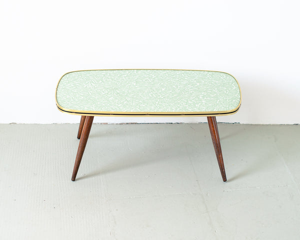 Aqua Formica Low Coffee Table or Plant Stand
