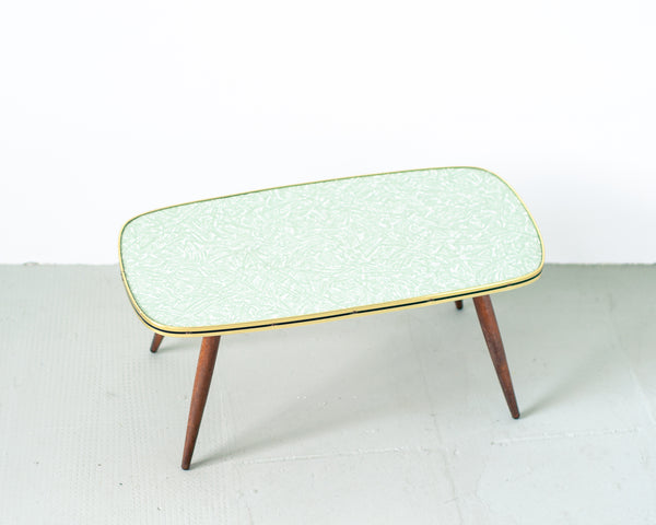§ Aqua Formica Low Coffee Table or Plant Stand