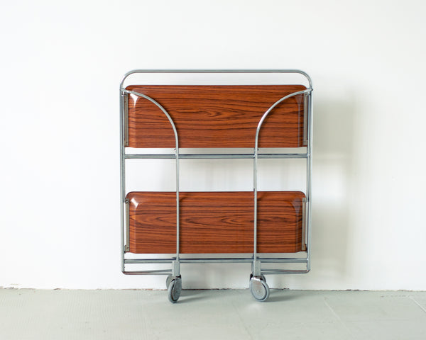 Vintage Gerlinol Foldable Bar Cart