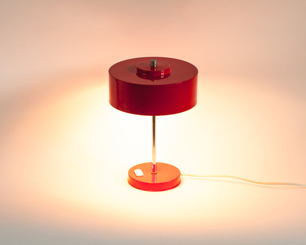 § 1970's Industrial Red Desk Lamp