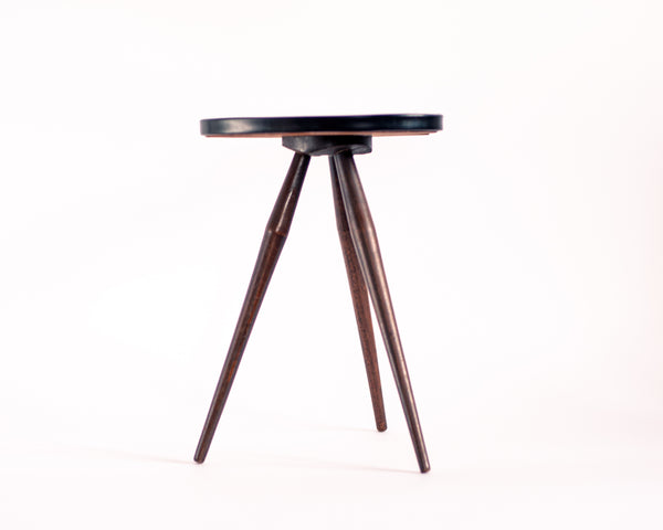 § Yellow Freeform Formica Tripod Table