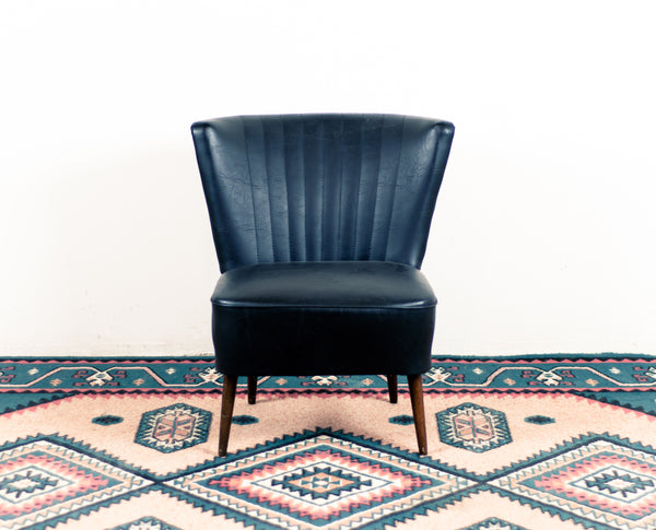§ 1950's Black Vintage Cocktail Chair