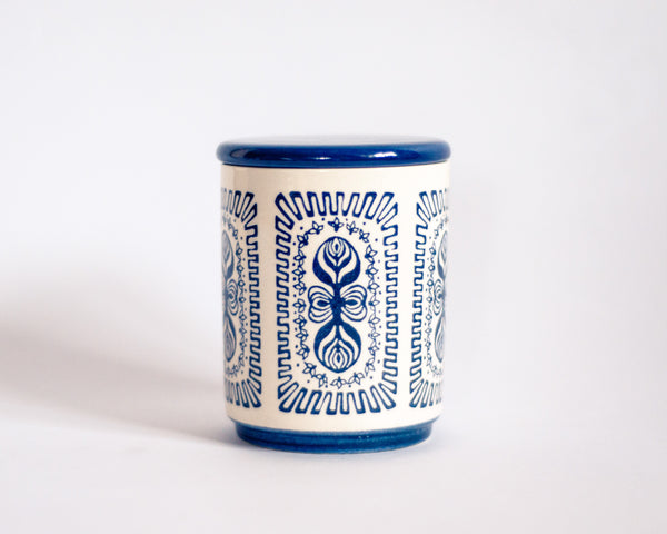 § Scandinavian Motif Ceramic Jar with Lid