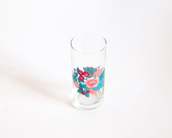 §French Vintage Floral Lemonade Glasses with Tray